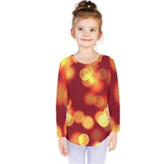 Soft Lights Bokeh 4 Kids  Long Sleeve Tee