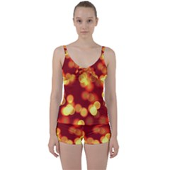 Soft Lights Bokeh 4 Tie Front Two Piece Tankini