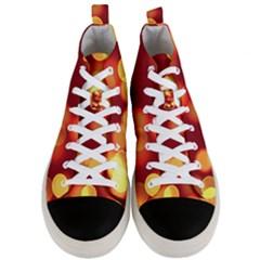 Soft Lights Bokeh 4 Men s Mid Top Canvas Sneakers
