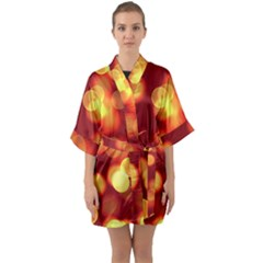 Soft Lights Bokeh 4 Quarter Sleeve Kimono Robe