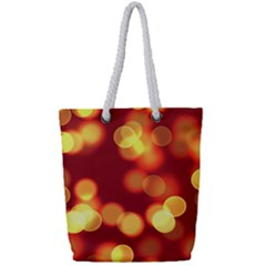 Soft Lights Bokeh 4 Full Print Rope Handle Tote (small)