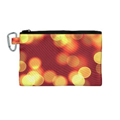 Soft Lights Bokeh 4 Canvas Cosmetic Bag (medium)