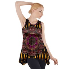 A Flaming Star Is Born On The  Metal Sky Side Drop Tank Tunic