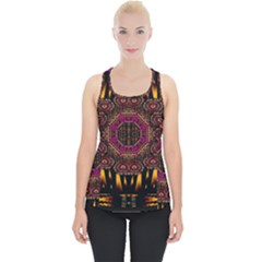 A Flaming Star Is Born On The  Metal Sky Piece Up Tank Top