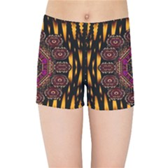 A Flaming Star Is Born On The  Metal Sky Kids Sports Shorts