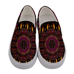 A Flaming Star Is Born On The  Metal Sky Women s Canvas Slip Ons