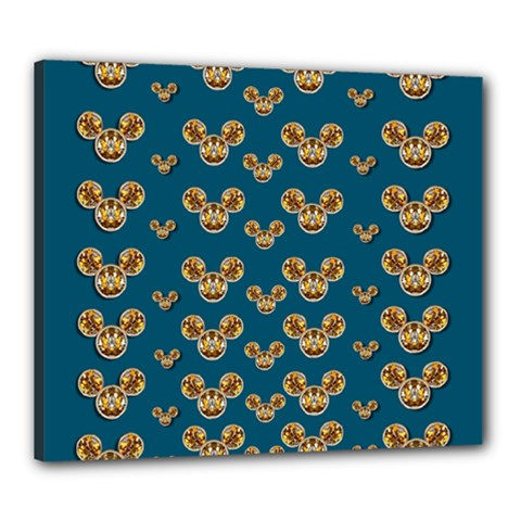 Cartoon Animals In Gold And Silver Gift Decorations Canvas 24  X 20