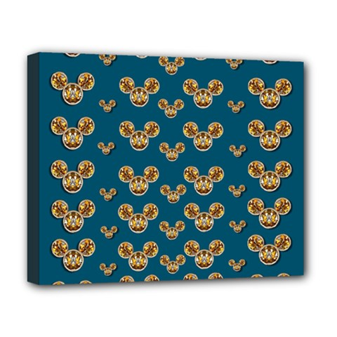 Cartoon Animals In Gold And Silver Gift Decorations Deluxe Canvas 20  X 16