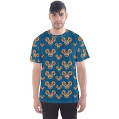 Cartoon Animals In Gold And Silver Gift Decorations Men s Sports Mesh Tee