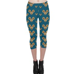 Cartoon Animals In Gold And Silver Gift Decorations Capri Leggings