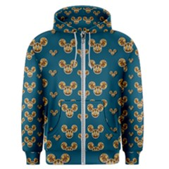 Cartoon Animals In Gold And Silver Gift Decorations Men s Zipper Hoodie