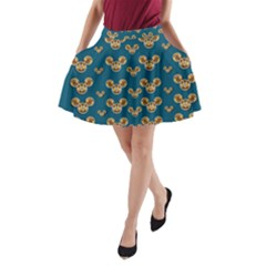 Cartoon Animals In Gold And Silver Gift Decorations A Line Pocket Skirt