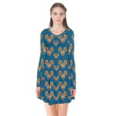 Cartoon Animals In Gold And Silver Gift Decorations Flare Dress