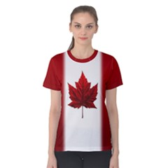 Canada Flag  Women s Cotton Tee