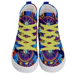 Sunand Moon   Kid s Hi Top Skate Sneakers