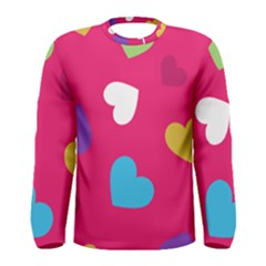 Valentine s Day Pattern Men s Long Sleeve Tee
