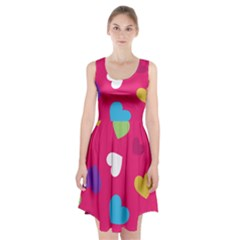 Valentine s Day Pattern Racerback Midi Dress