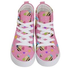 Bee Mine Valentine Kid s Hi Top Skate Sneakers