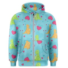 Dinosaur Love Pattern Men s Zipper Hoodie