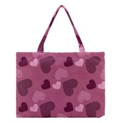 Mauve Valentine Heart Pattern Medium Tote Bag