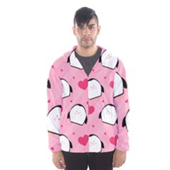 Penguin Love Pattern Hooded Wind Breaker (men)