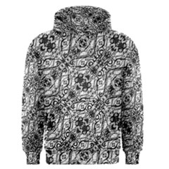 Black And White Ornate Pattern Men s Pullover Hoodie