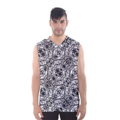 Black And White Ornate Pattern Men s Basketball Tank Top
