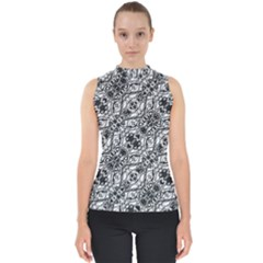 Black And White Ornate Pattern Shell Top