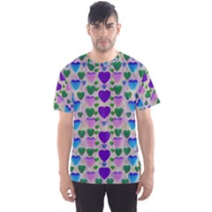 Love In Eternity Is Sweet As Candy Pop Art Men s Sports Mesh Tee