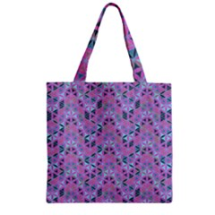 Sacred Geometry Pattern 2 Zipper Grocery Tote Bag