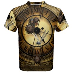 Wonderful Steampunk Desisgn, Clocks And Gears Men s Cotton Tee