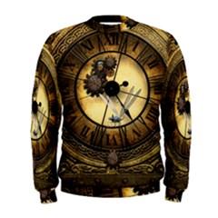 Wonderful Steampunk Desisgn, Clocks And Gears Men s Sweatshirt