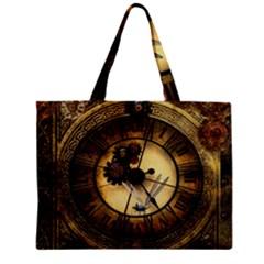Wonderful Steampunk Desisgn, Clocks And Gears Zipper Mini Tote Bag