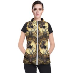 Wonderful Steampunk Desisgn, Clocks And Gears Women s Puffer Vest