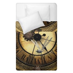Wonderful Steampunk Desisgn, Clocks And Gears Duvet Cover Double Side (single Size)