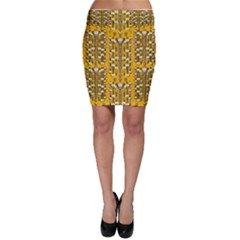 Rain Showers In The Rain Forest Of Bloom And Decorative Liana Bodycon Skirt