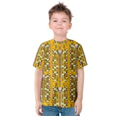 Rain Showers In The Rain Forest Of Bloom And Decorative Liana Kids  Cotton Tee