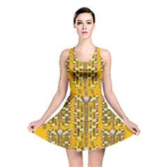 Rain Showers In The Rain Forest Of Bloom And Decorative Liana Reversible Skater Dress