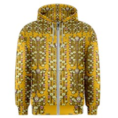 Rain Showers In The Rain Forest Of Bloom And Decorative Liana Men s Zipper Hoodie