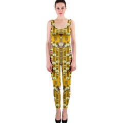 Rain Showers In The Rain Forest Of Bloom And Decorative Liana Onepiece Catsuit