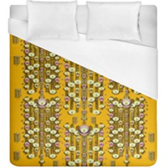 Rain Showers In The Rain Forest Of Bloom And Decorative Liana Duvet Cover (king Size)