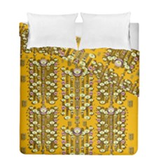 Rain Showers In The Rain Forest Of Bloom And Decorative Liana Duvet Cover Double Side (full/ Double Size)