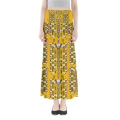 Rain Showers In The Rain Forest Of Bloom And Decorative Liana Full Length Maxi Skirt