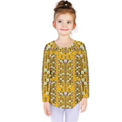 Rain Showers In The Rain Forest Of Bloom And Decorative Liana Kids  Long Sleeve Tee