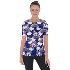 Rainbow Unicorns Short Sleeve Top