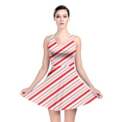 Candy Cane Stripes Reversible Skater Dress