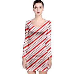 Candy Cane Stripes Long Sleeve Bodycon Dress