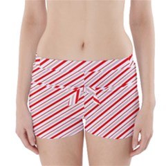 Candy Cane Stripes Boyleg Bikini Wrap Bottoms