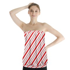Candy Cane Stripes Strapless Top