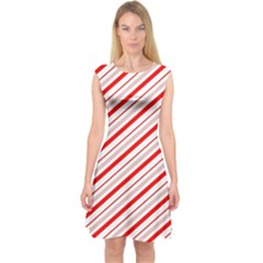 Candy Cane Stripes Capsleeve Midi Dress